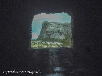 This tunnel frames Mount Rushmore.