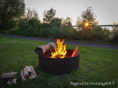 Campfires and happy hour!