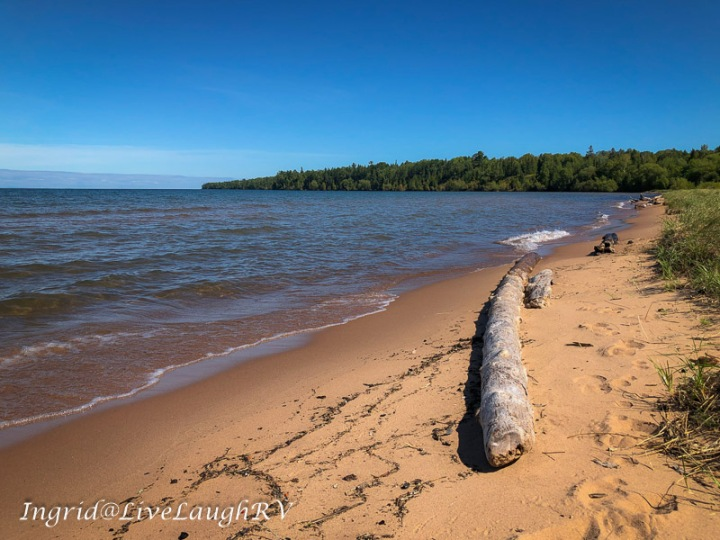 Lake Superior beach in Cornucopia, Wisconsin