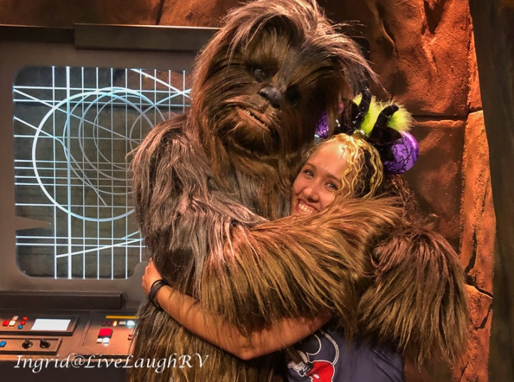 Chewbacca at Disneyland