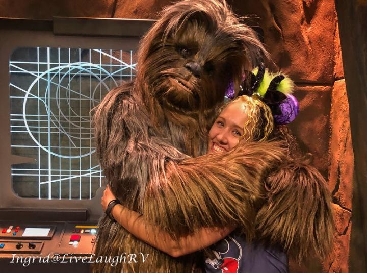 Chewbacca at Disneyland
