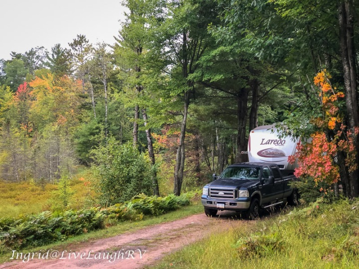 RVing during fall colors in Wisconsin.