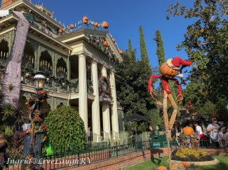 Haunted mansion at Disneyland in October