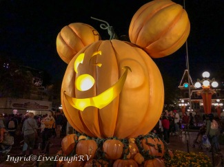Mickey mouse pumpkin at Disneyland