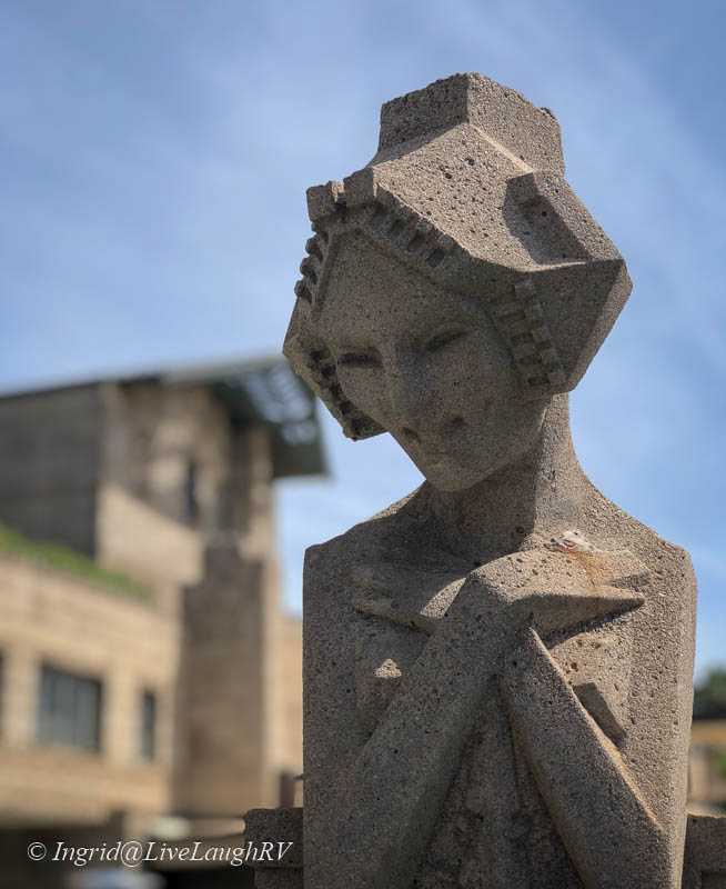 a statue at the Arizona Biltmore in Scottsdale AZ