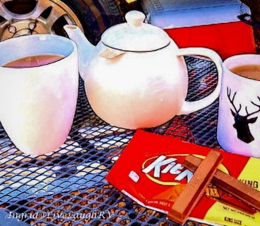 tea and crumpets, KitKat candy bar