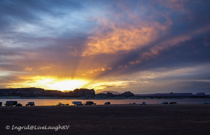 camping, boondocking at Lake Powell