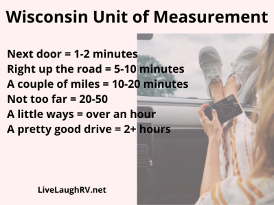 Wisconsin humor, driving distances